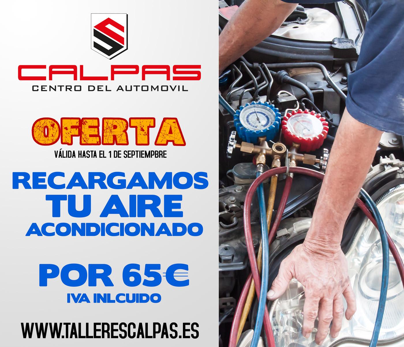 Recarga aire acondicionado coche Alicante